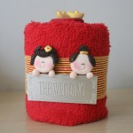 Chinese couple towel taart b