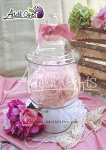 dahlia glass jar