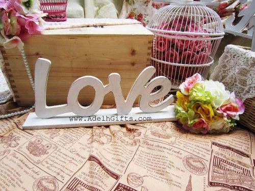 Love wood letter