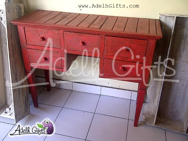 vintage red table