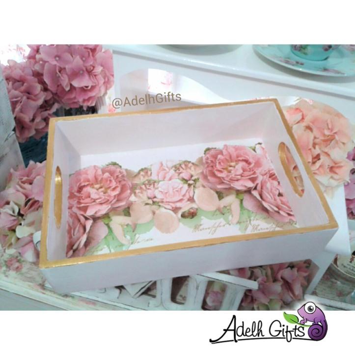 decoupage tray flower