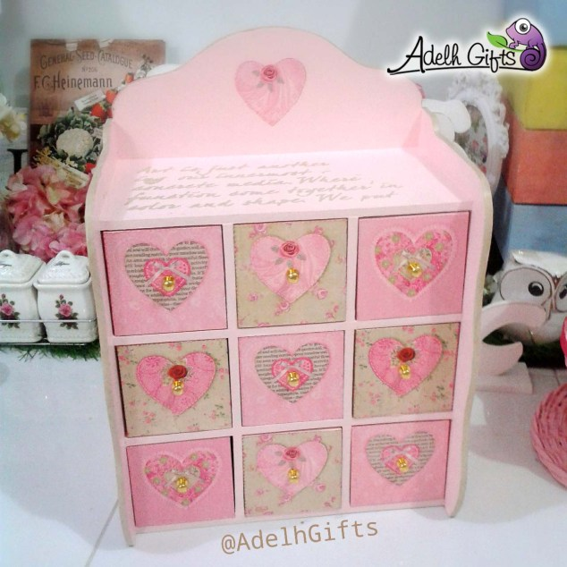 love heart decoupage