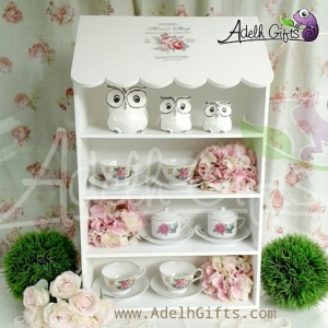 decoupage tea cup display