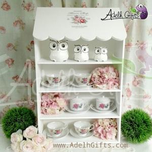 decoupage tea cup display
