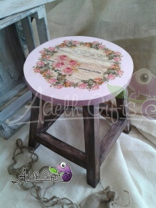 flowers servietten stool