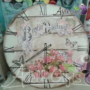 vintage decoupage clock