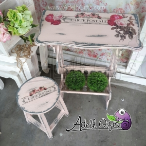 decoupage on furniture surabaya