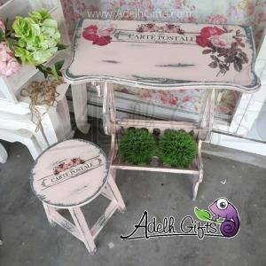 decoupage on furniture surabaya