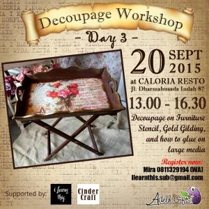 Decoupage workshop day 3