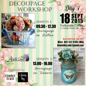 Decoupage workshop day 1