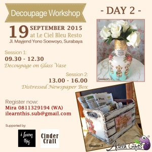 decoupage workshop day 2