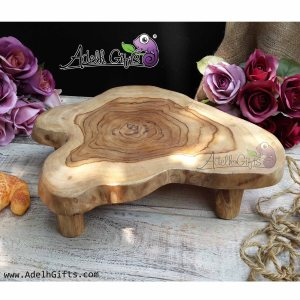 talenan abstract kaki teak wood