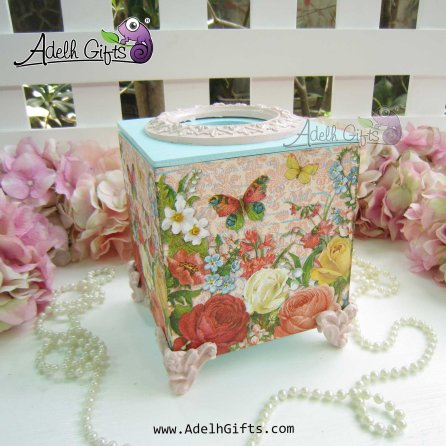 cocktail tissue butterfly pink