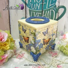cocktail tissue yellow blue