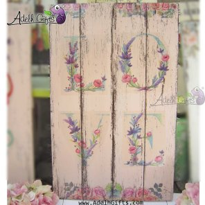 love wood plaque baru