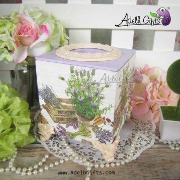 tissue box lavender