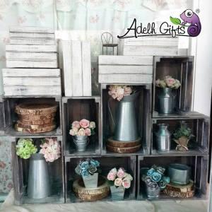 rustic crate decoration