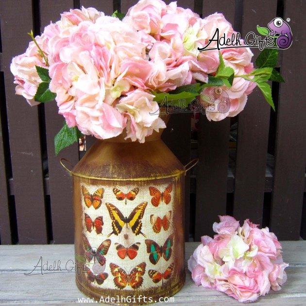 hydrangea peach pink