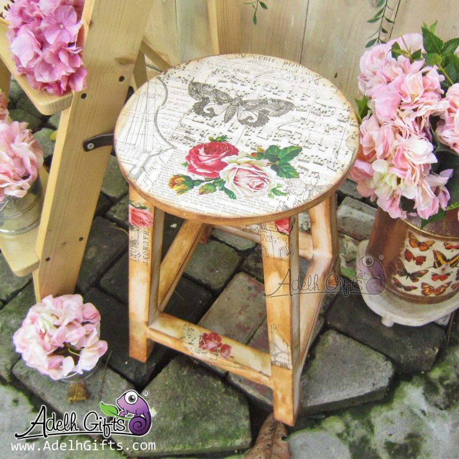 round stool decou vintage