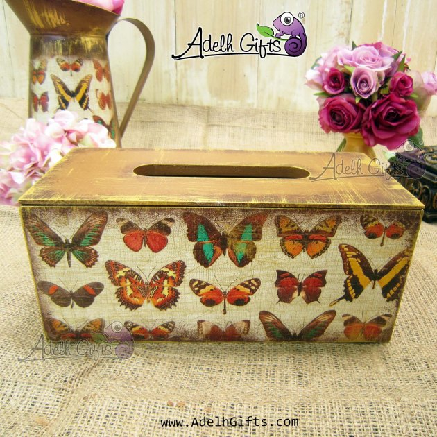 tissue box std butterfly