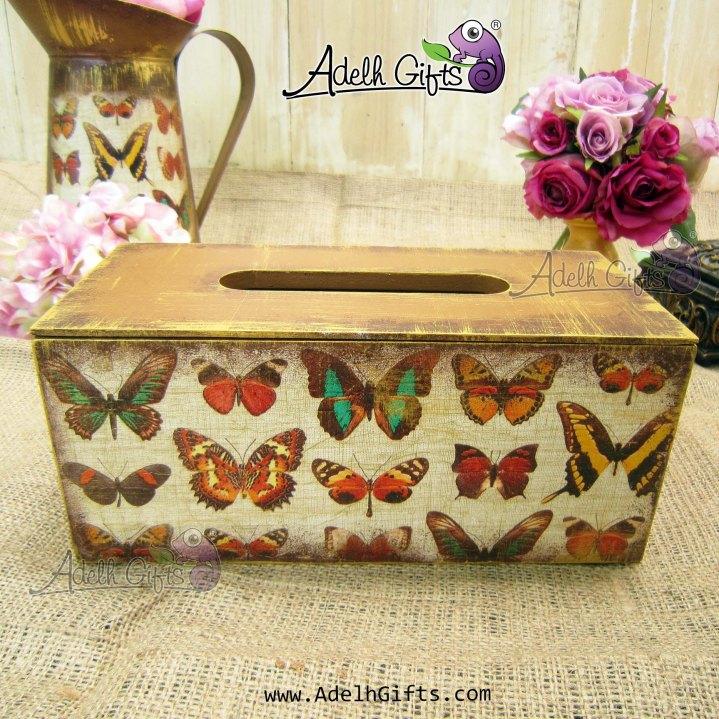 tissue box std butterfly