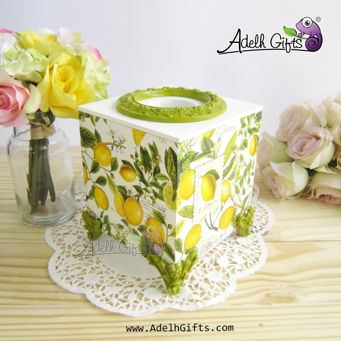 cocktail tissue box lemon