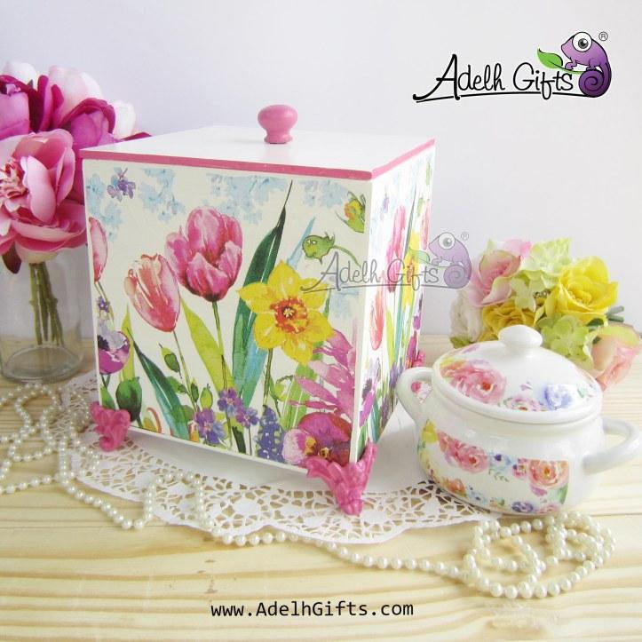 utility box tulip watercolor