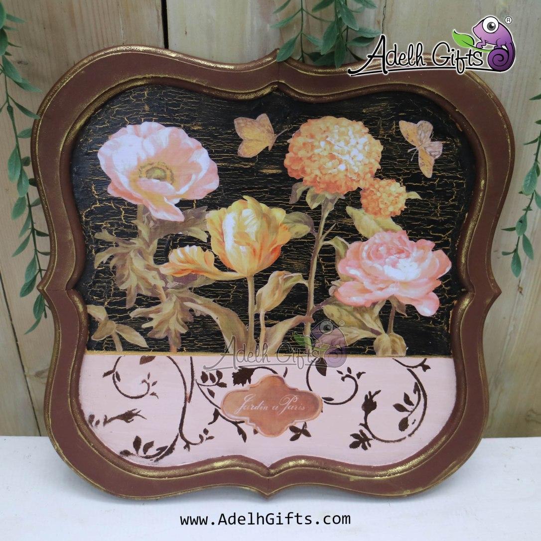 chalkboard tray coklat flower