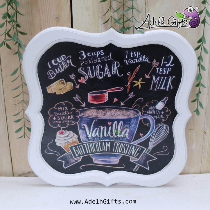 chalkboard tray vanilla