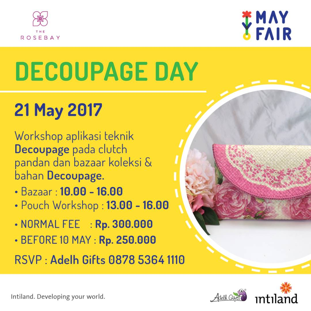 decoupage day with the rosebay