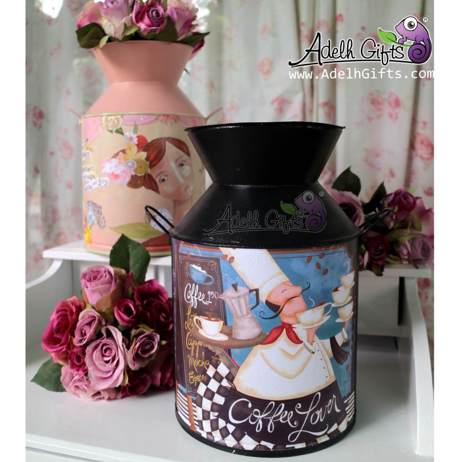 Kaleng susu Decoupage L koki black