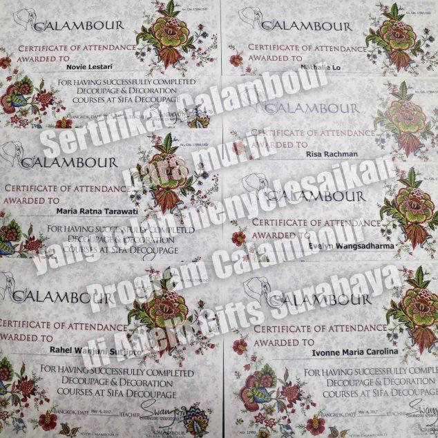 calambour sertifikat