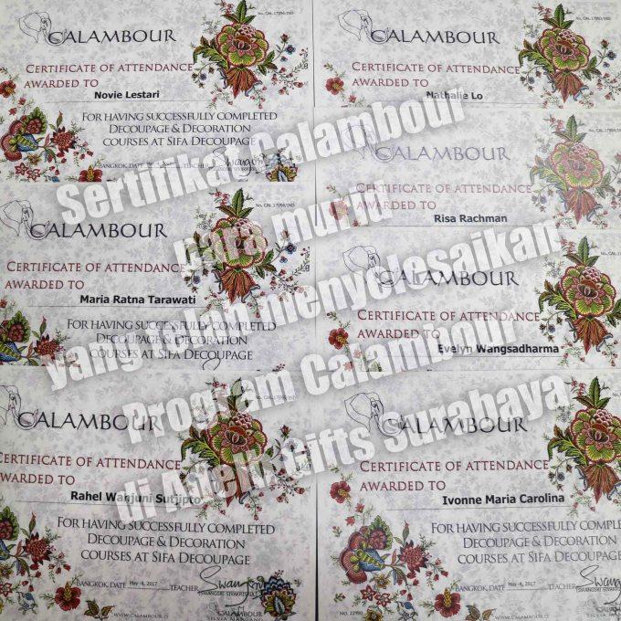 sertifikat Calambour Decoupage