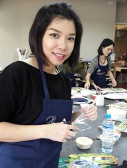 Decoupage workshop di thailand