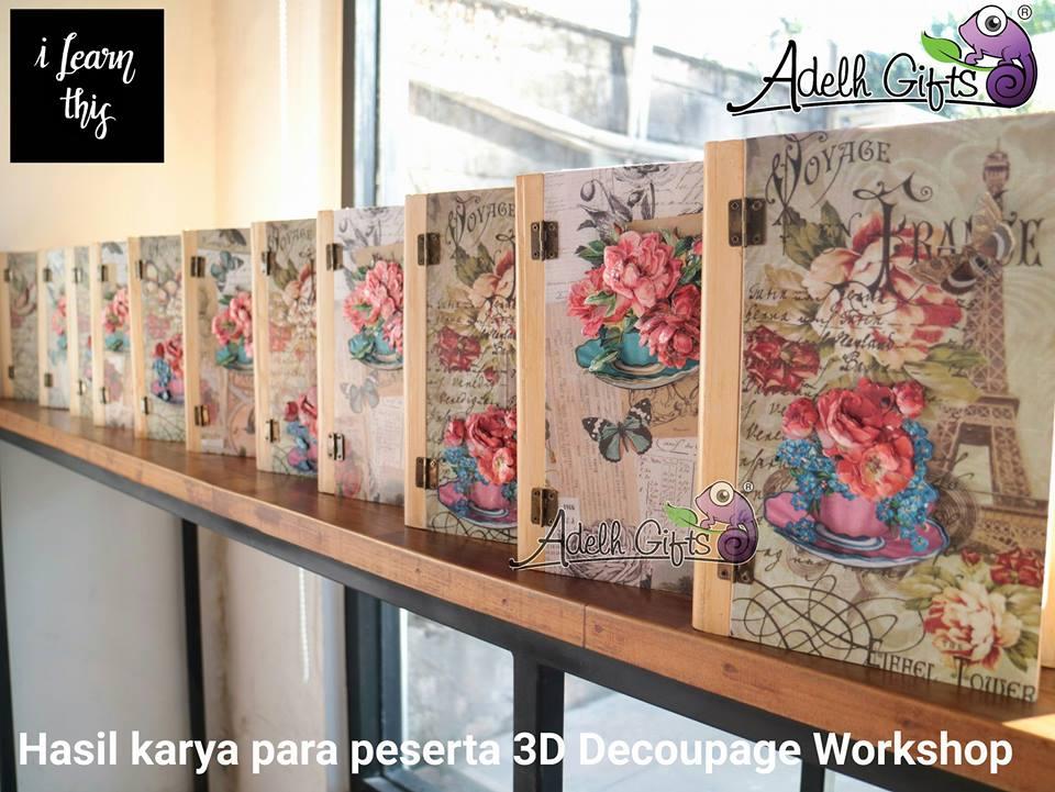 hasil karya para peserta 3D decoupage workshop
