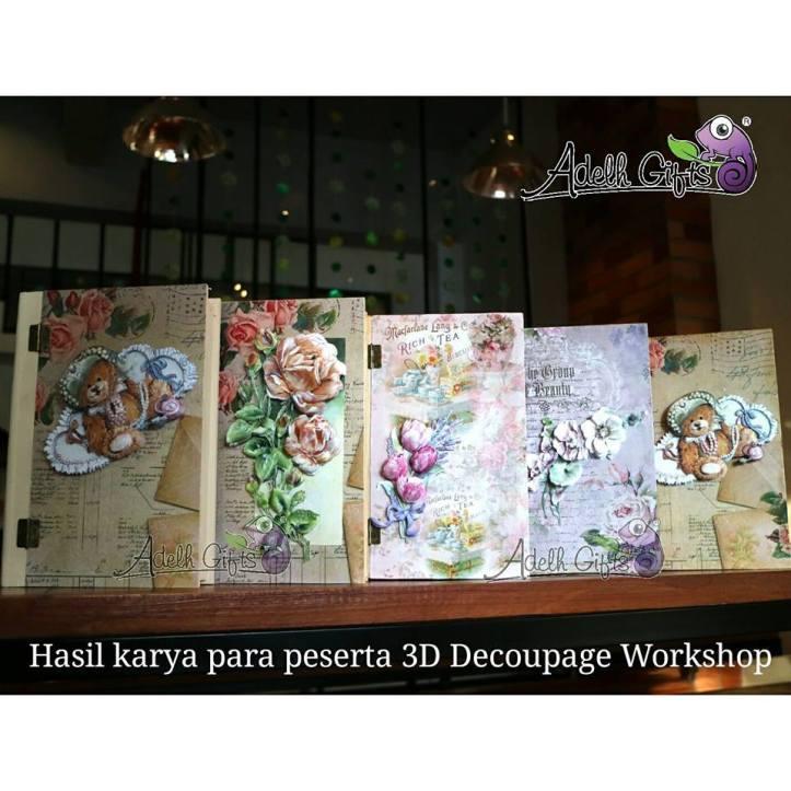 sebagian hasil karya 3D decoupage workshop
