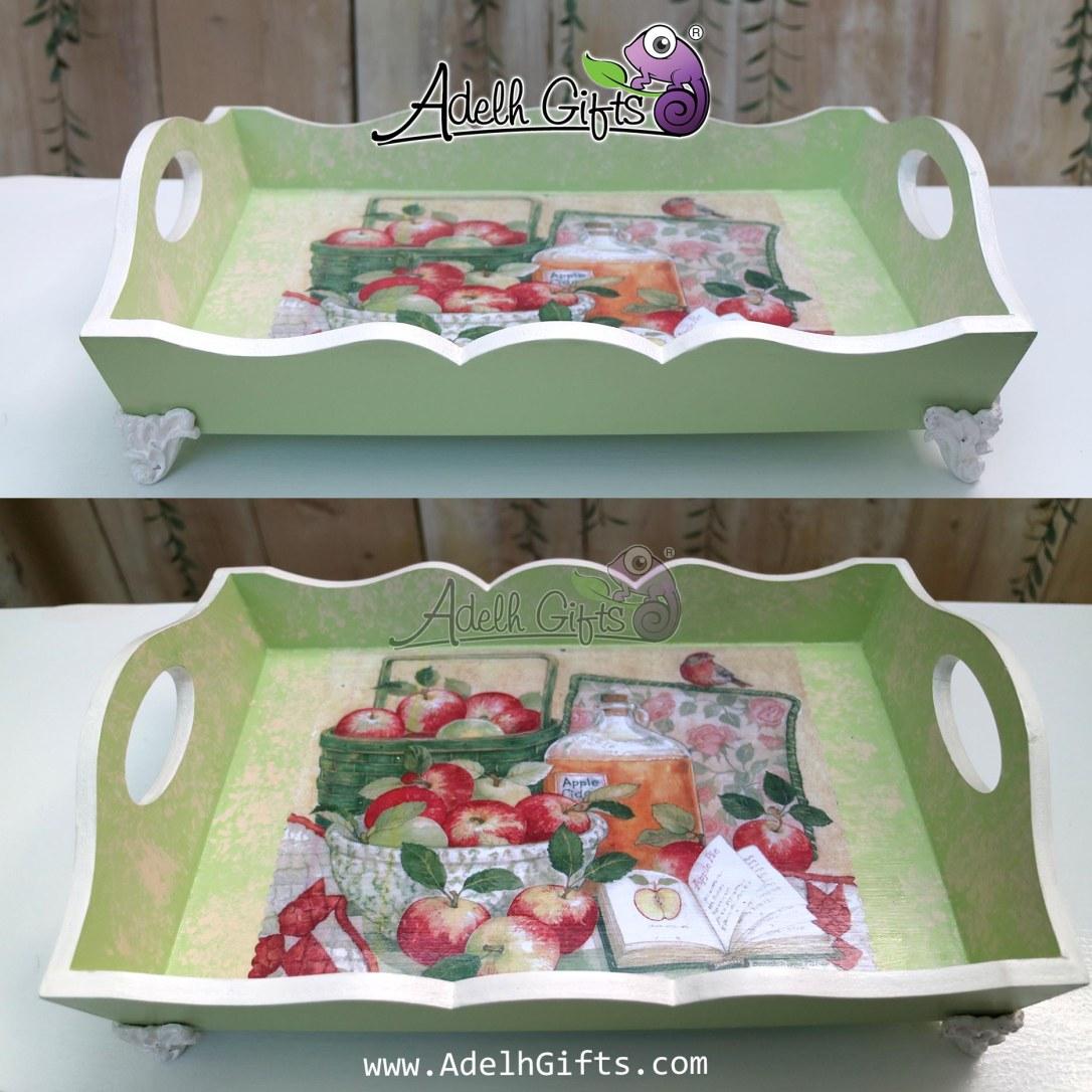 tray kaki resin hijau apel