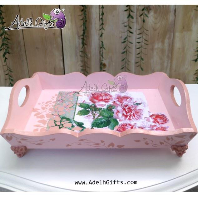tray kaki resin pink stencil