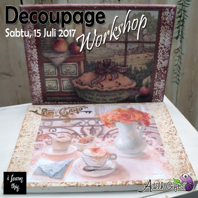 decoupage pada canvas