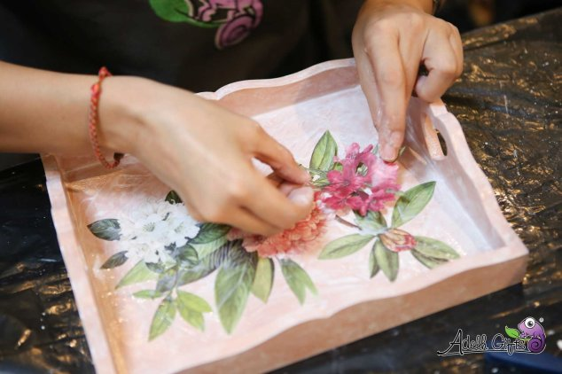 decoupage tray workshop indonesia