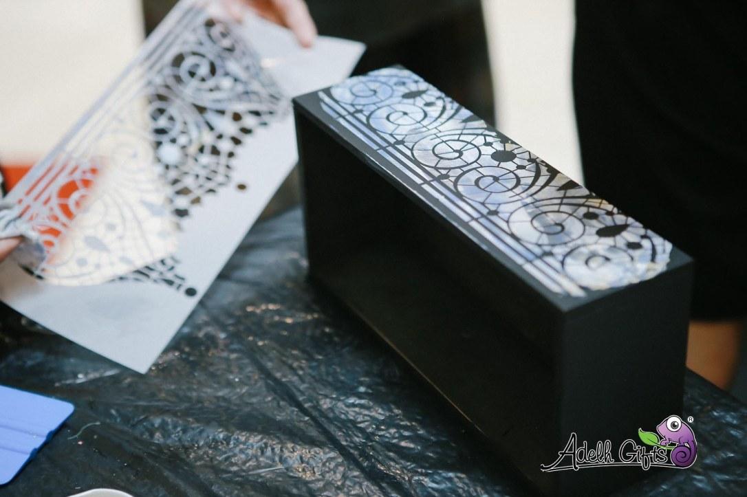 mosaic calambour decoupage