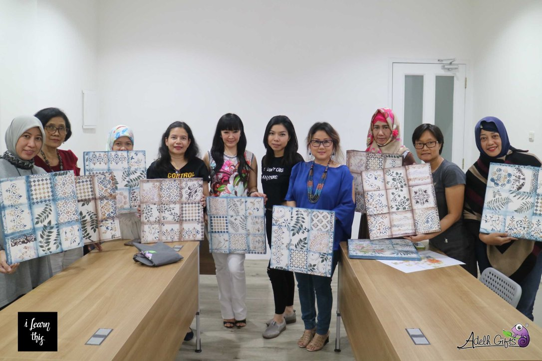 tiles on canvas workshop jakarta