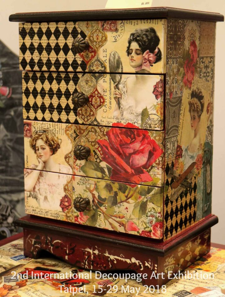 cupboard decoupage