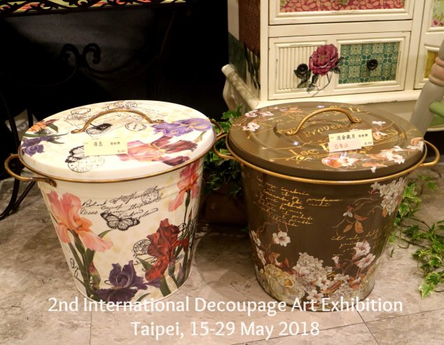 tong sampah decoupage