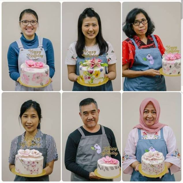 para peserta workshop cake decorating